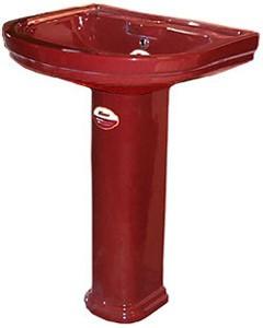 Умывальник тюльпан Монако VI 3 N (820x560x465) бордовый