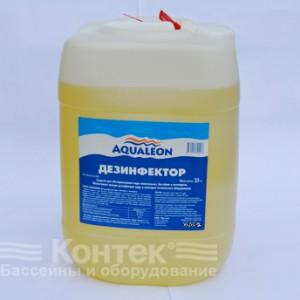 """Химия для бассейнов: Дезинфицирующее средство """"Aqualeon"""" (10 л) жидкое 12 кг"""