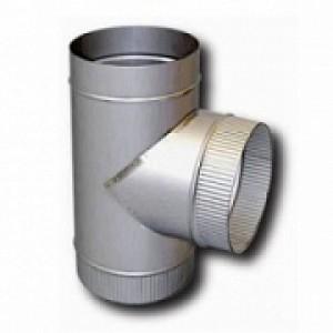 Тройник 90° нерж. (0,5 мм) D=150