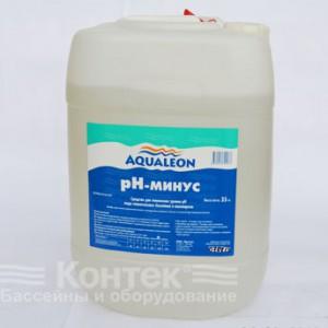 """Химия для бассейнов: Регулятор Рн-«минус» """"Aqualeon"""" (30 л) жидкий 35 кг"""