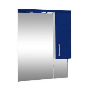 Зеркало со шкафом синее Монако Боско (Monaco) Аура Бриз 65