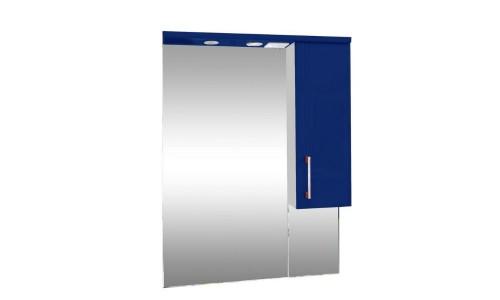 Зеркало со шкафом синее Монако (Monaco) Аура Бриз 65 купить недорого в Москве
