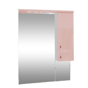 Зеркало со шкафом розовое Монако Боско (Monaco) Аура Бриз 65