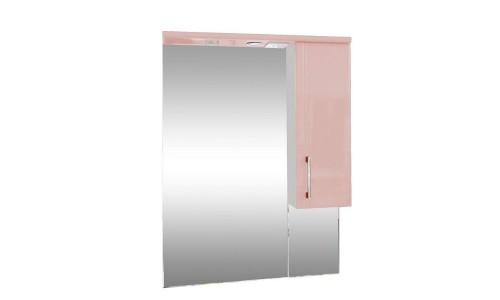 Зеркало со шкафом розовое Монако (Monaco) Аура Бриз 65 купить недорого в Москве