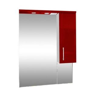 Зеркало со шкафом красное Монако (Monaco) Аура Бриз 65