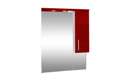Зеркало со шкафом красное Монако (Monaco) Аура Бриз 65 купить недорого в Москве