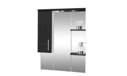Зеркало со шкафом черное Монако (Monaco) Аура Бриз 87 купить недорого в Москве