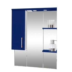 Зеркало со шкафом синее Монако Боско (Monaco) Аура Бриз 87