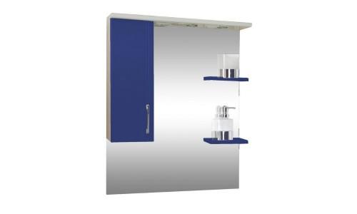 Зеркало со шкафом синее Монако (Monaco) Аура Бриз 80 купить недорого в Москве