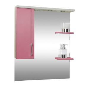 Зеркало со шкафом розовое Монако Боско (Monaco) Аура Бриз 80