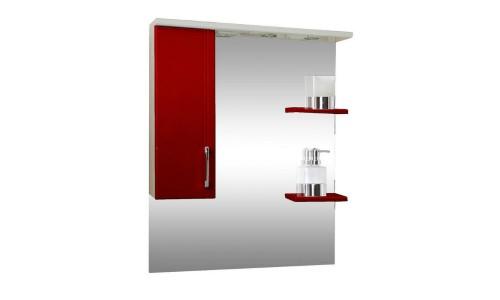 Зеркало со шкафом красное Монако (Monaco) Аура Бриз 80 купить недорого в Москве