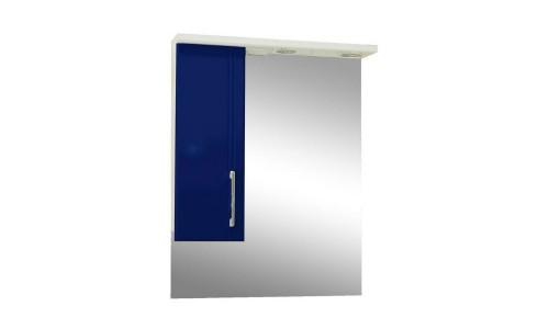 Зеркало со шкафом синее Монако (Monaco) Аура Бриз 60 купить недорого в Москве