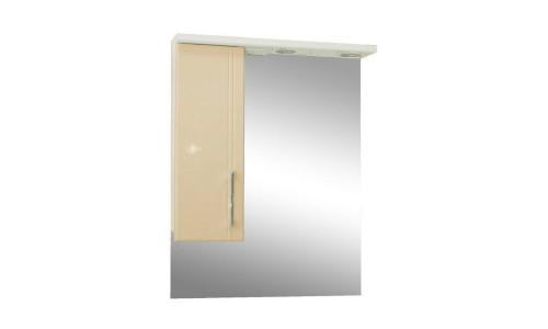 Зеркало со шкафом бежевое Монако (Monaco) Аура Бриз 60 купить недорого в Москве