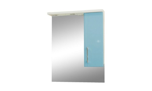 Зеркало со шкафом голубое Монако (Monaco) Аура Бриз 60 купить недорого в Москве
