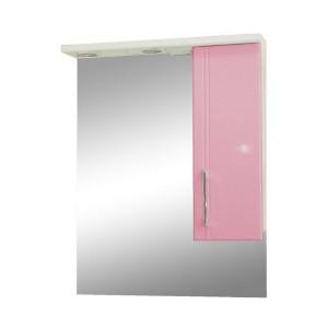 Зеркало со шкафом розовое Монако (Monaco) Аура Бриз 60