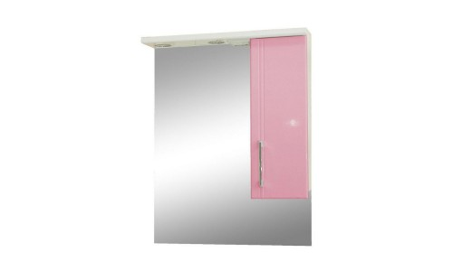 Зеркало со шкафом розовое Монако (Monaco) Аура Бриз 60 купить недорого в Москве