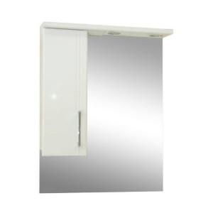 Зеркало со шкафом белое Монако (Monaco) Аура Бриз 60