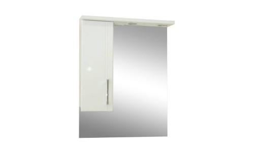 Зеркало со шкафом белое Монако (Monaco) Аура Бриз 60 купить недорого в Москве