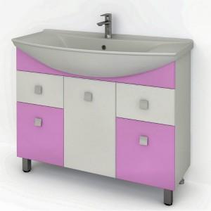 Тумба ДОМИНО 1050 (цвет розовый) (TIVOLI)