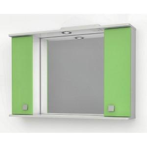 Шкаф зеркальный ДОМИНО 105 с/о (цвет фисташковый) (TIVOLI)