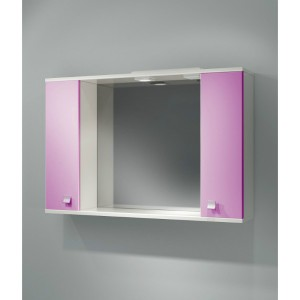 Шкаф зеркальный ДОМИНО 105 с/о (цвет розовый) (TIVOLI)