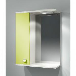Шкаф зеркальный ДОМИНО 55 левый с/о (цвет фисташковый) (TIVOLI)