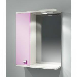 Шкаф зеркальный ДОМИНО 55 левый с/о (цвет розовый) (TIVOLI)