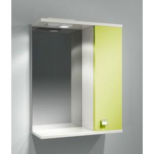 Шкаф зеркальный ДОМИНО 55 правый с/о (цвет фисташковый) (TIVOLI)