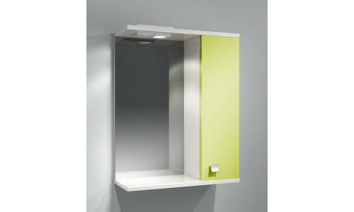 Шкаф зеркальный ДОМИНО 55 правый с/о (цвет фисташковый) (TIVOLI) купить недорого в Москве
