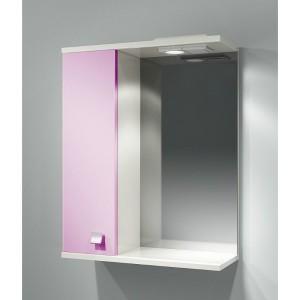 Шкаф зеркальный ДОМИНО 55 правый с/о (цвет розовый) (TIVOLI)