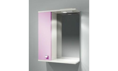 Шкаф зеркальный ДОМИНО 55 правый с/о (цвет розовый) (TIVOLI) купить недорого в Москве