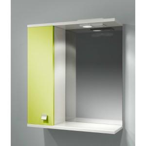 Шкаф зеркальный ДОМИНО 62 левый с/о (цвет фисташковый) (TIVOLI)