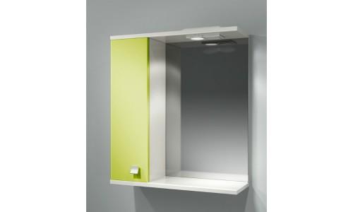 Шкаф зеркальный ДОМИНО 62 левый с/о (цвет фисташковый) (TIVOLI) купить недорого в Москве