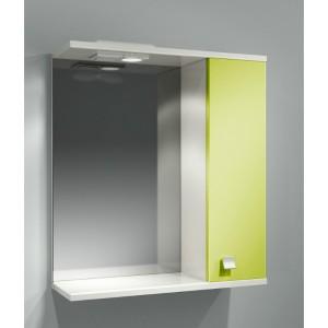 Шкаф зеркальный ДОМИНО 62 правый с/о (цвет фисташковый) (TIVOLI)