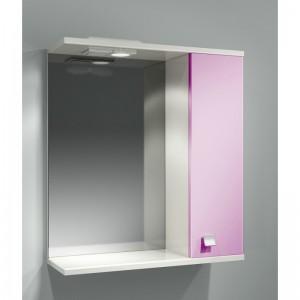 Шкаф зеркальный ДОМИНО 62 правый с/о (цвет розовый) (TIVOLI)