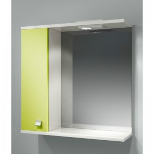 Шкаф зеркальный ДОМИНО 70 левый с/о (цвет фисташковый) (TIVOLI)