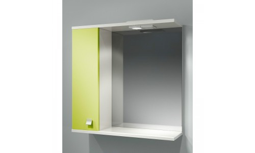 Шкаф зеркальный ДОМИНО 70 левый с/о (цвет фисташковый) (TIVOLI) купить недорого в Москве