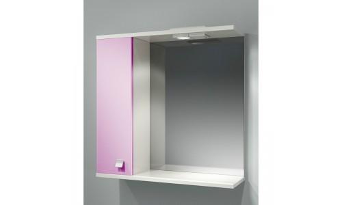 Шкаф зеркальный ДОМИНО 70 левый с/о (цвет розовый) (TIVOLI) купить недорого в Москве