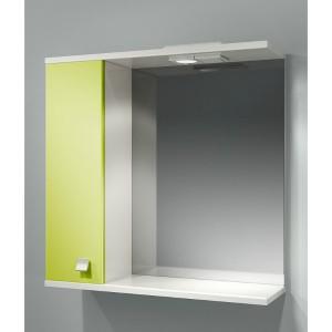 Шкаф зеркальный ДОМИНО 70 правый с/о (цвет фисташковый) (TIVOLI)
