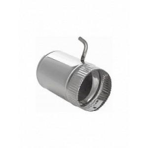 Шибер поворотный Ф115 для дымохода 439 (0,8 мм)