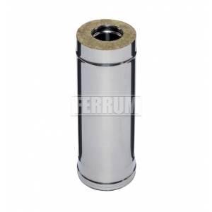 Сэндвич труба Ferrum 0,5м (0,8 мм) Ф115х200 нерж.