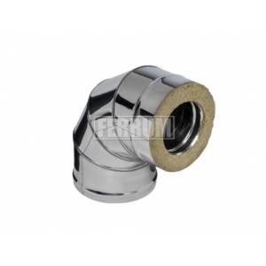 Сэндвич колено Ferrum 90º (0,8 мм) Ф150х250 оц.