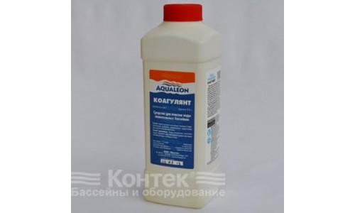 """Химия для бассейнов: Коагулянт """"Aqualeon"""" (1 л) жидкий 1,1 кг купить недорого в Москве"""