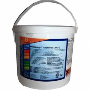 Химия для бассейнов: Кемохлор Т- таблетки (200 гр) (Пермахлор) ( 5 кг )