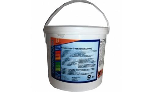 Химия для бассейнов: Кемохлор Т- таблетки (200 гр) (Пермахлор) ( 5 кг ) купить недорого в Москве