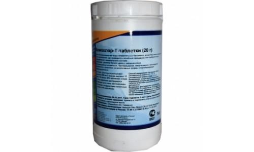 Химия для бассейнов: Кемохлор Т- таблетки (20 гр) (Пермахлор) ( 1 кг ) купить недорого в Москве