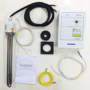 Электрокомплект для котла КЧМ 5 ТЭНБ-7,5 кВт ( от 5-ти секций пульт, блок тэн, 2 датчика, кабель, футорка, фланец)