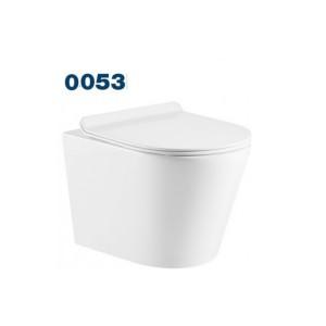 Унитаз Azario Teramo (круглый) 0053 подвесной безободковый унитаз микролифт