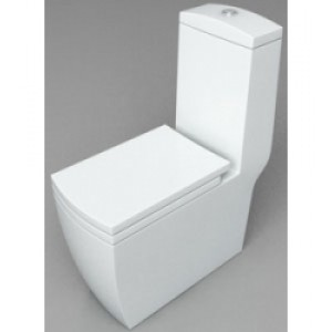 Белый унитаз моноблок Style Lux 050 white   (675х370х790)