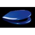 Сиденье крышка для унитаза Style 1215 blue (дюропласт, микролифт) синее.